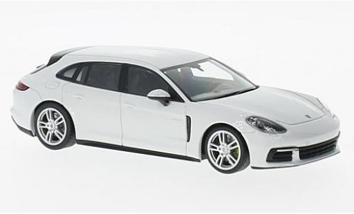 Porsche Panamera e-hybrid 1/43 I Minichamps 4 E-Hybrid Sport Turismo blanche miniature