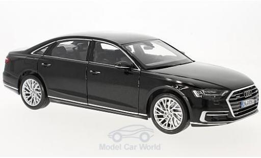 Audi A8 1/18 Norev L metallico nero 2017 miniatura