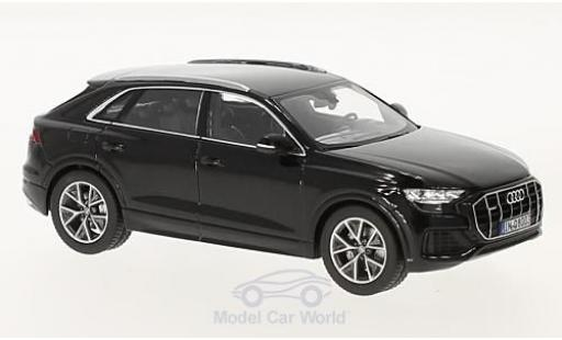 Audi Q8 1/43 Norev metallico nero 2018 miniatura