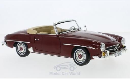 Mercedes 190 SL 1/18 Norev (W 121) rouge 1955 SoftTop liegt ein miniature