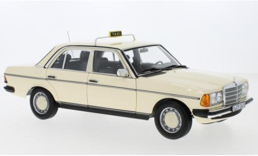 Mercedes 200 1/18 I Norev (W123) beige Taxi (D) 1980 miniature