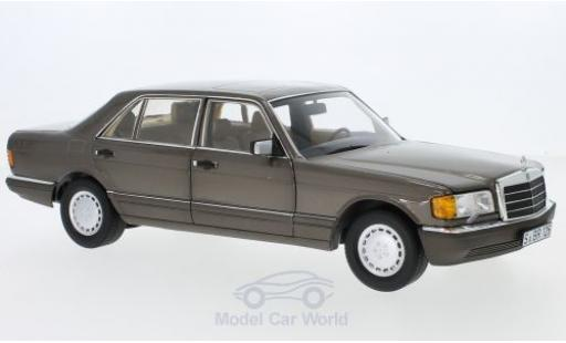 Mercedes 560 SEL 1/18 Norev (V126) metallise marron 1985 miniature