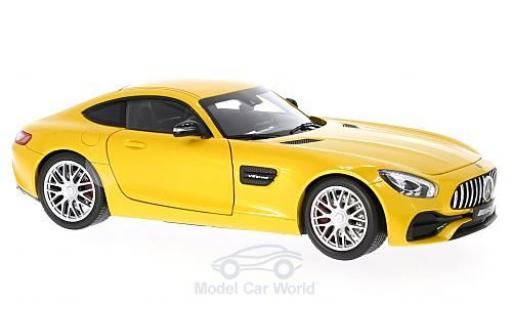 Mercedes AMG GT 1/18 Norev (C190) metallise jaune miniature