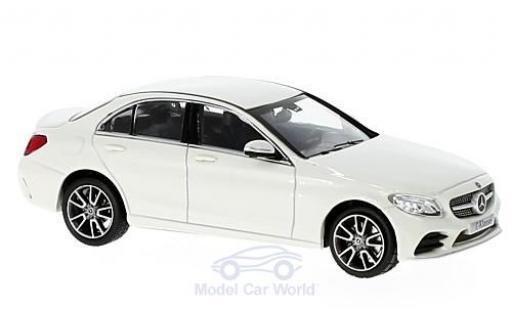Mercedes Classe C 1/43 Norev Mopf (W205) metallise blanche miniature