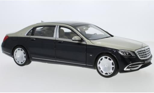 Mercedes Classe S 1/18 Norev Maybach S 650 (X222) metallise beige/metallise blue diecast model cars