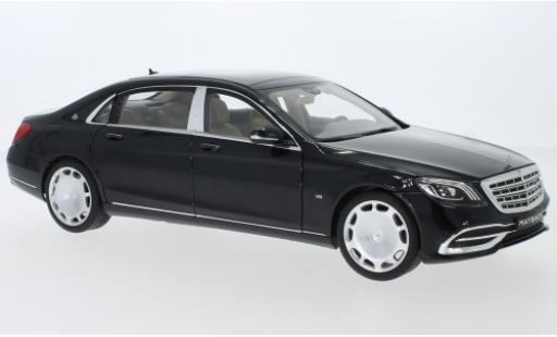 Mercedes Classe S 1/18 Norev Maybach S 650 (X222) metallise black diecast model cars
