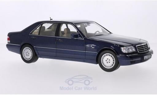 Mercedes Classe S 1/18 Norev S 500 L (W140) metallise bleue miniature