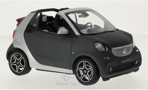 Smart ForTwo 1/18 Norev fortwo Cabrio (A453) matt-dunkelgrise/grise Softtop liegt bei miniature