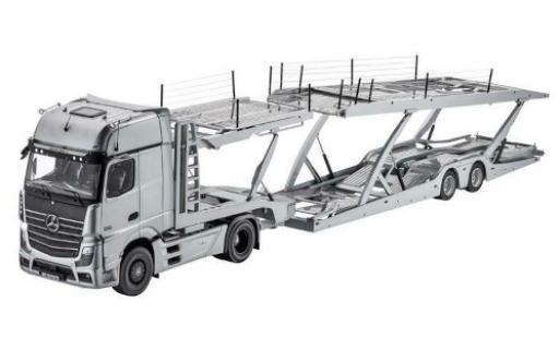 Mercedes Actros 1/18 I NZG Autotransporter grise avec Lohr remorque miniature