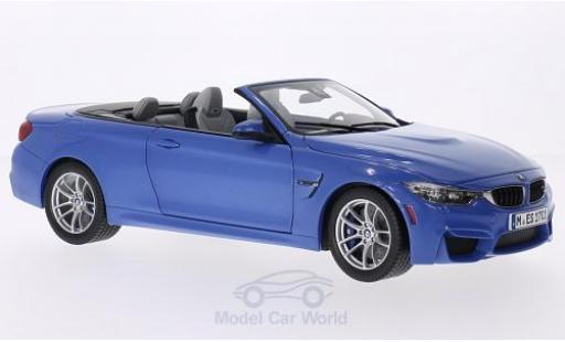 Bmw M4 1/18 Paragon Convertible metallise bleue 2015 ohne Vitrine miniature