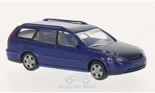 Ford Mondeo 1/87 I Rietze Turnier bleue 2000 miniature