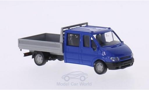 Ford Transit 1/87 Rietze Doppelkabine bleue/grise 2001 ohne Vitrine miniature
