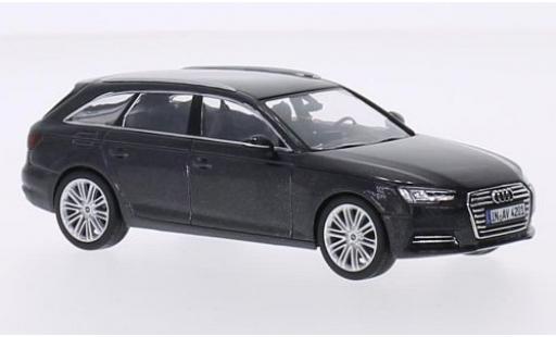 Audi A4 1/43 I Spark Avant metallic grey 2015 diecast