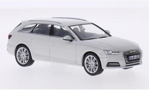 Audi A4 1/43 Spark Avant blanche 2015 miniature