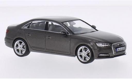 Audi A4 1/43 Spark (B9) metallise marron 2015 miniature