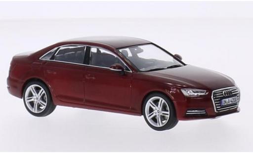 Audi A4 1/43 Spark (B9) metallise rouge 2015 miniature
