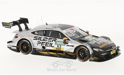 Mercedes Classe C DTM 1/43 Spark AMG C63 DTM No.63 Silberpfeil DTM 2017 M.Engel miniature