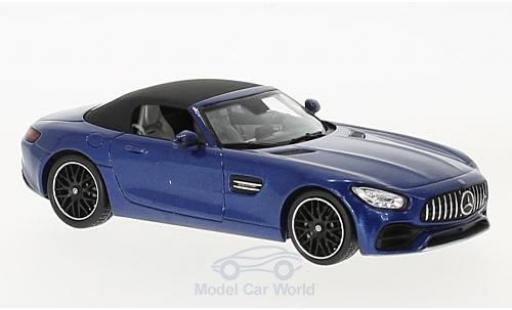 Mercedes AMG GT 1/43 Spark Roadster metallise bleue miniature