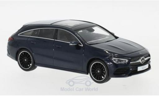 Mercedes CLA 1/43 Spark Shooting Brake metallise bleue 2019 miniature