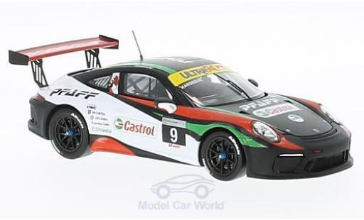 Porsche 991 SC 1/43 Spark (991) GT3 Cup No.9 Pfaff Motorsports Cup S. Hargrove miniature