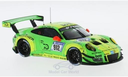 Porsche 991 GT3 R 1/43 Spark 911  No.912 Manthey Racing 24h Nürburgring 2018 R.Lietz/F.Makowiecki/P.Pilet/N.Tandy diecast model cars
