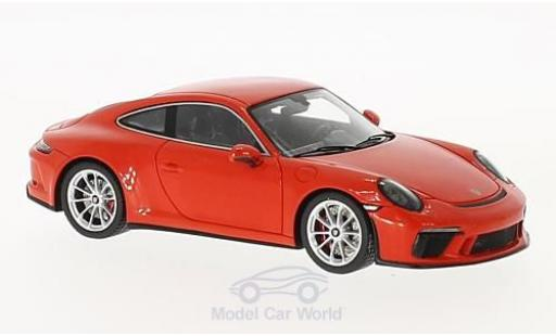 Porsche 991 GT3 1/43 Spark 911  Touring Package orange miniature