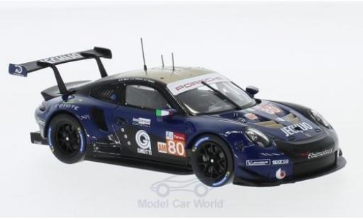 Porsche 991 RSR 1/43 Spark 911 ( II) No.80 Ebimotors 24h Le Mans 2018 E.Maris/C.Nielsen/F.Babini miniature