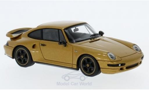 Porsche 993 Turbo 1/43 Spark 911  Classic Series gold miniature