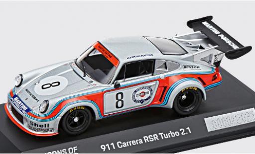 Porsche 930 Turbo 1/43 I Spark 911 Carrera RSR 2.1 No.8 Martini Racing System Martini 1000km Nürburgring 1974 H.Müller/G.van Lennep diecast model cars