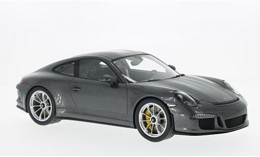 Porsche 991 R 1/18 I Spark 911  metallise grise 2017 miniature