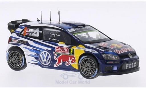 Volkswagen Polo 1/43 Spark R WRC No.9 Motorsport Red Bull Rallye WM Rallye Monte-Carlo 2015 A.Mikkelsen/O.Floene diecast