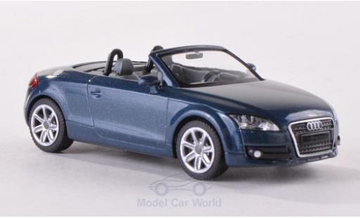 Audi TT 1/87 Wiking Roadster (8J) metallise bleue 2007 miniature