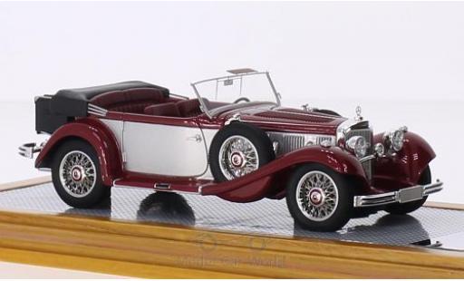 Mercedes 500 1/43 Ilario K Tourenwagen métallisé rouge/grise 1935 sn113663 miniature