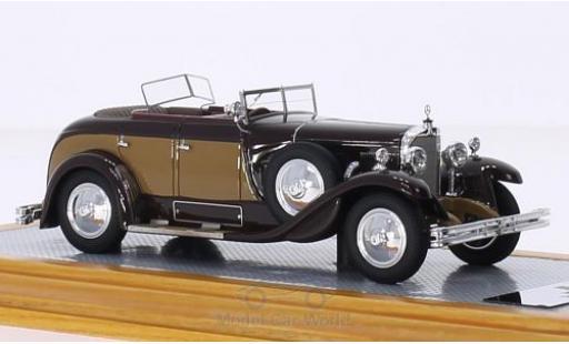 Mercedes Classe S 1/43 Ilario 630K Saoutchik Torpedo Transformable marron/marron RHD 1928 miniature