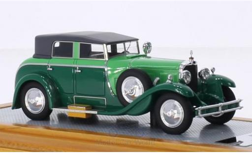 Mercedes Classe S 1/43 Ilario 630K Saoutchik Torpedo Transformable green/green 1932 diecast model cars