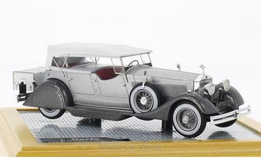 Rolls Royce Phantom 1/43 Ilario II Dual Cowl Sports Phaeton Whittingham & Mitchel grise/metallise grise 1930 sn25EX miniature