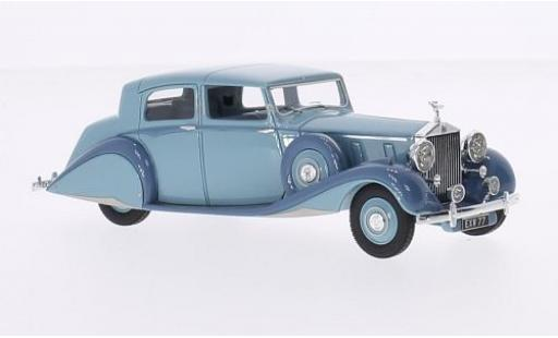 Rolls Royce Phantom 1/43 Ilario III Sedanca De Ville Hooper bleue/grise RHD 1938 sn 3CP200 miniature