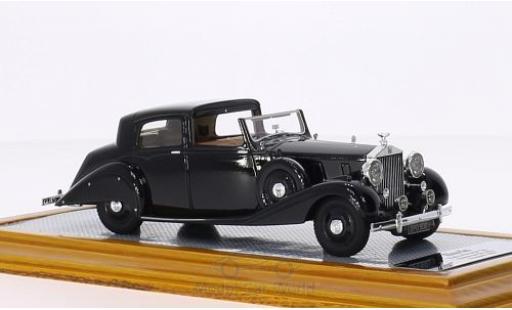 Rolls Royce Phantom 1/43 Ilario III Sedanca De Ville Hooper nero RHD 1937 sn 3CP130 modellino in miniatura