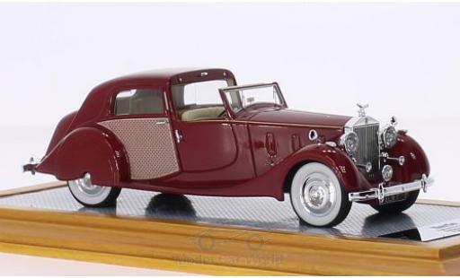 Rolls Royce Phantom 1/43 Ilario III Sedanca de Ville Park Ward rouge/Dekor RHD 1937 sn3CM61 miniature