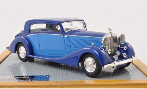 Rolls Royce Phantom 1/43 Ilario III Vesters & Neirinck Coupe bleue/bleue 1937 miniature
