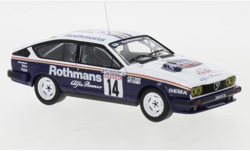 Alfa Romeo GT 1/43 IXO V6 No.14 Rothmans Rallye WM Tour de Corse 1986 Y.Loubet/J-M.Andrie miniature