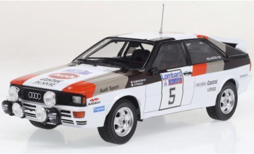 Audi Quattro 1/24 IXO A1 No.5 RAC Rally 1982 M.Mouton/F.Pons diecast model cars