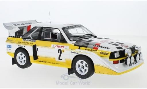 Audi Sport Quattro 1/18 IXO Sport quattro S1 E2 No.2 HB Team HB Rallye WM Rallye Monte Carlo 1986 mit Decals W.Röhrl/C.Geistdörfer diecast model cars