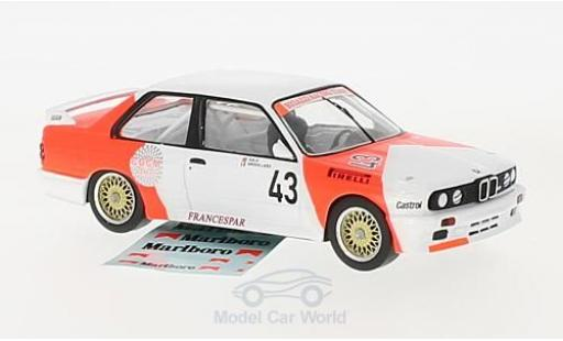 Bmw M3 E30 1/43 IXO  No.43 Bigazzi Racing Team Marlboro WTCC 1987 mit Decals L.-P.Sala/O.Grouillard diecast model cars