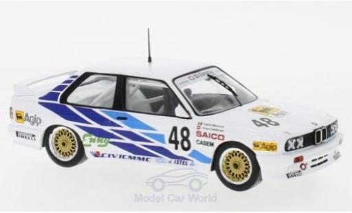 Bmw M3 1/43 IXO (E30) No.48 CiBiEmme WTCC 1987 J.Calderari/F.Mancini miniature