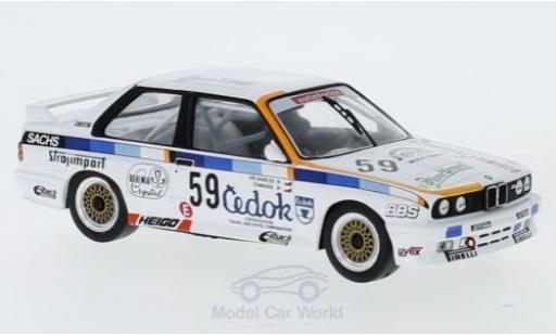 Bmw M3 1/43 IXO (E30) No.59 ETCC 1988 O.Vanicek/V.Tomasek miniature