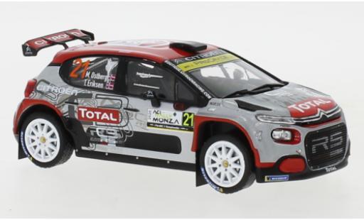 Citroen C3 1/43 IXO R5 No.21 Rallye WM Rallye Monza 2020 M.Ostberg/T.Eriksen miniature