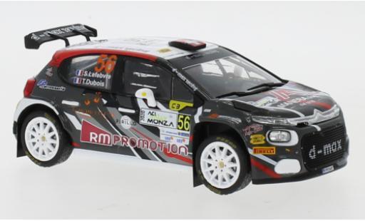 Citroen C3 1/43 IXO R5 No.56 WRC Rallye Monza 2020 S.Lefebvre/T.Dubios miniature