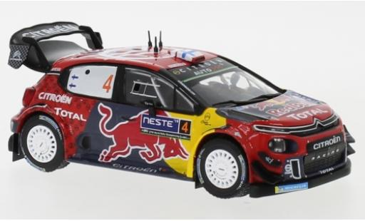 Citroen C3 1/43 IXO WRC No.4 Red Bull WRC Rallye Finnland 2019 E.Lappi/J.Ferm diecast model cars