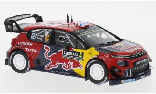 Citroen C3 1/43 IXO WRC No.4 Red Bull WRC Rallye Schweden 2019 E.Lappi/J.Ferm miniature